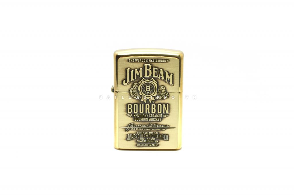 Bật lửa Zippo chính hãng nhãn hiệu rượu Jim Beam phiên bản cũ