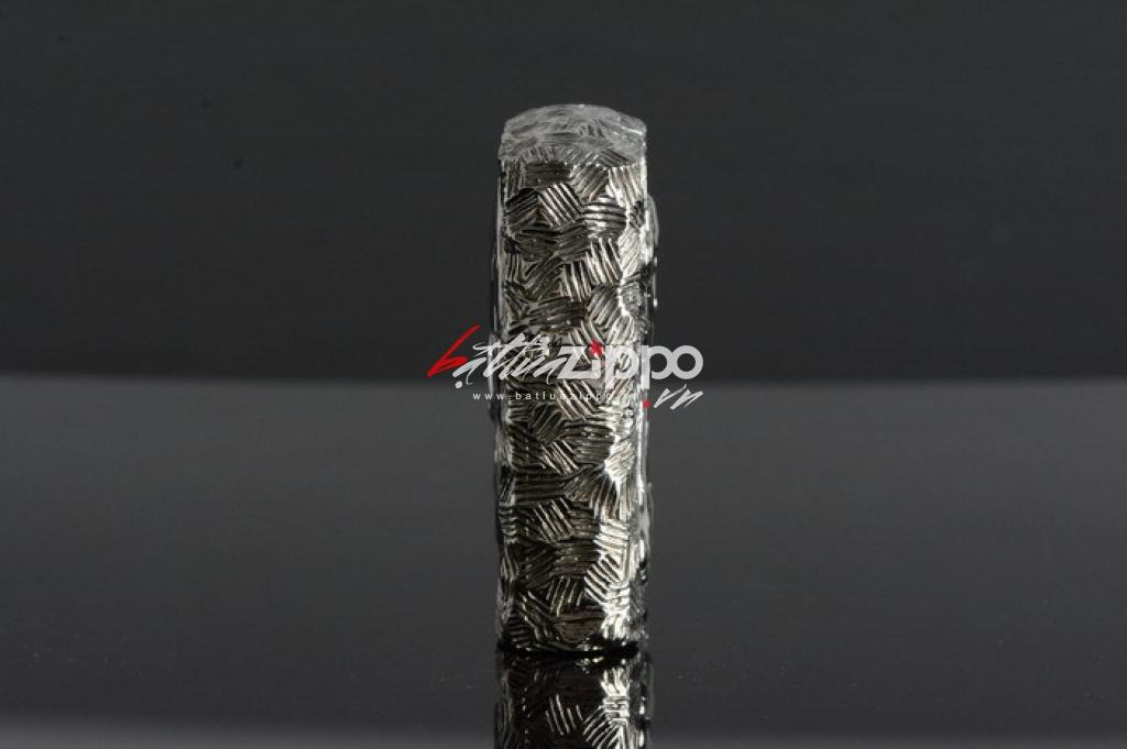 Bật lửa Zippo chính hãng nguyên khối đúc hình đầu lâu mặt kia xương tréo