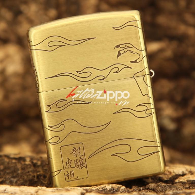 Bật lửa Zippo chính hãng khắc rồng quấn quanh dũng mãnh