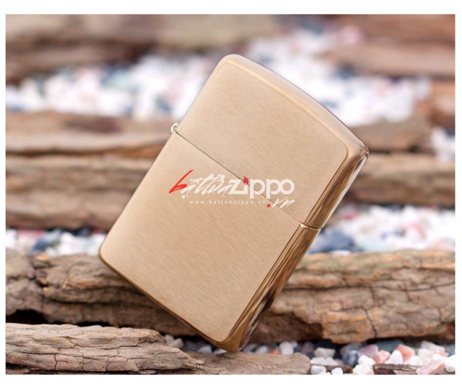 Bật lửa Zippo chính hãng 168 vàng xước