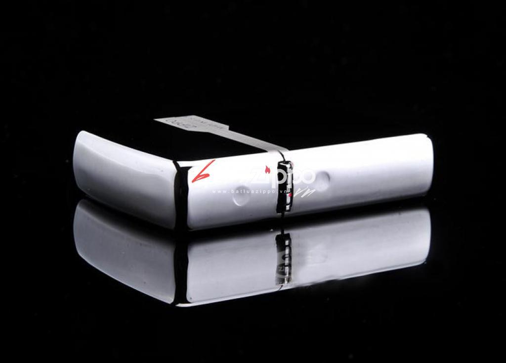 Bật lửa Zippo chính hãng 150 đen bóng có viền zippo giữ 2 nắp