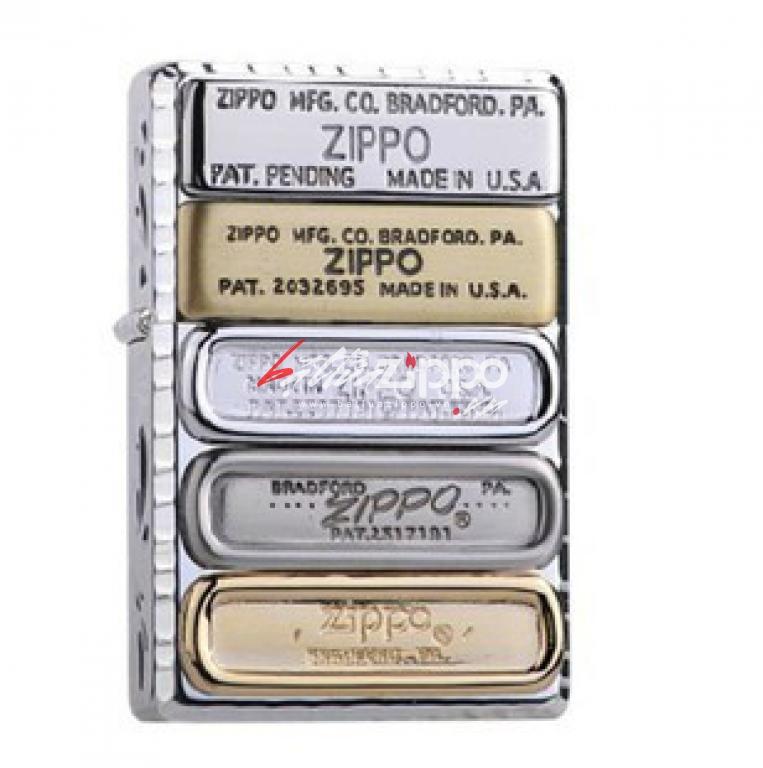 Bật lửa Zippo Phiên Bản Limited Hoạ tiết 12 đáy zippo qua các thời kỳ BMV-S