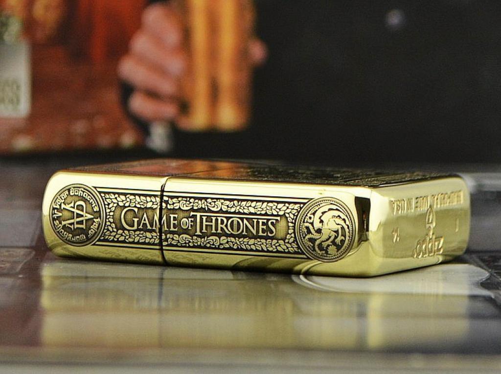 Zippo Chính Hãng Đồng Bóng Khắc  Game Of Thrones
