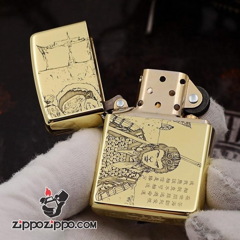 Bật Lửa Zippo Chất Liêu Đồng Khắc Tề Thiên Đại Thánh
