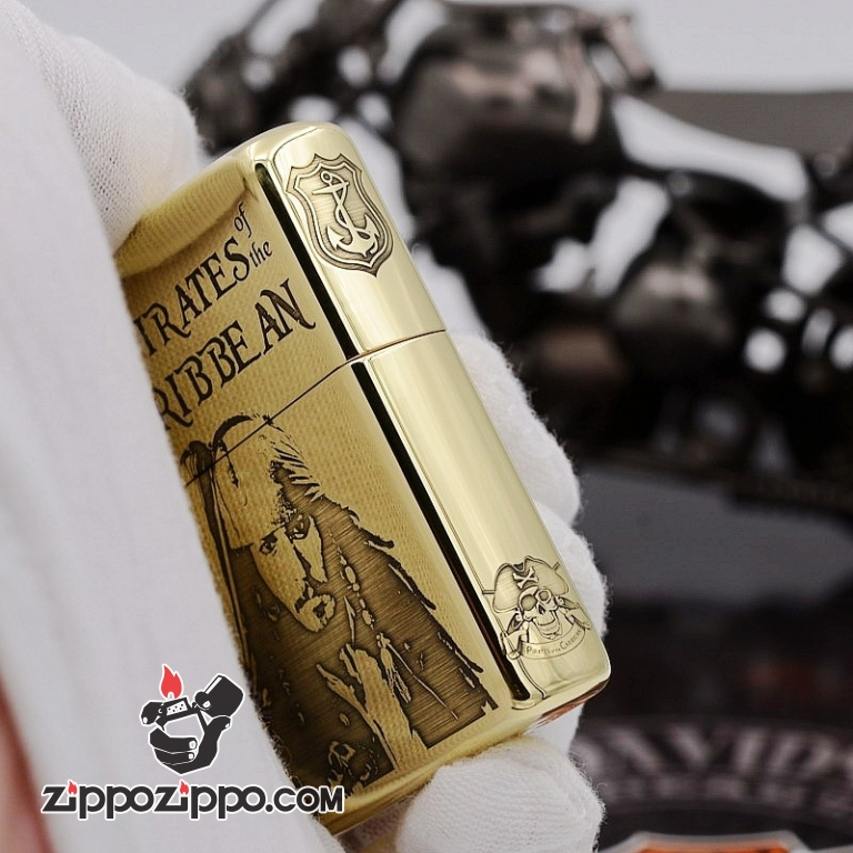 Zippo Chất Liêu đồng chạm khắc cướp biển Jack Captain