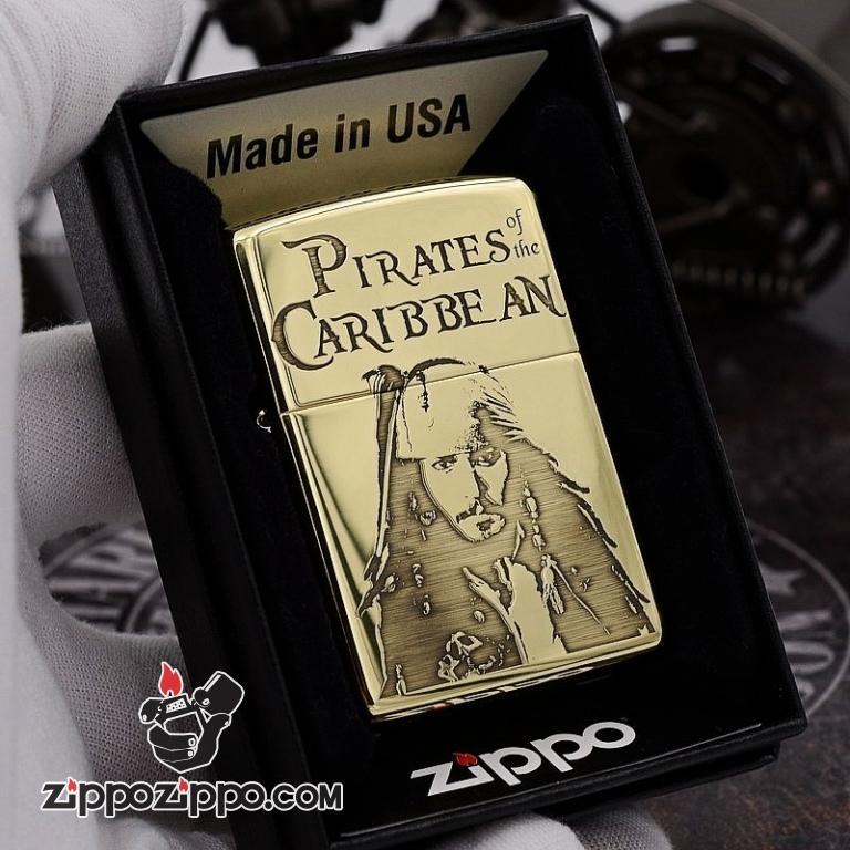 Zippo Chất Liêu đồng chạm khắc cướp biển Jack Captain Bản Armor
