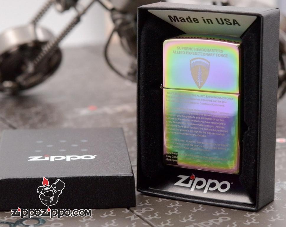 Zippo 7 Mầu Khắc  Tuyên Ngôn Thế Chiến 2