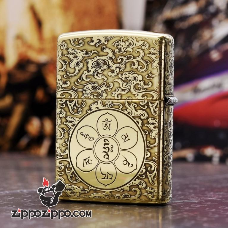 Bật Lửa Zippo Chất Liệu Đồng Chạm Khắc Đước Phật