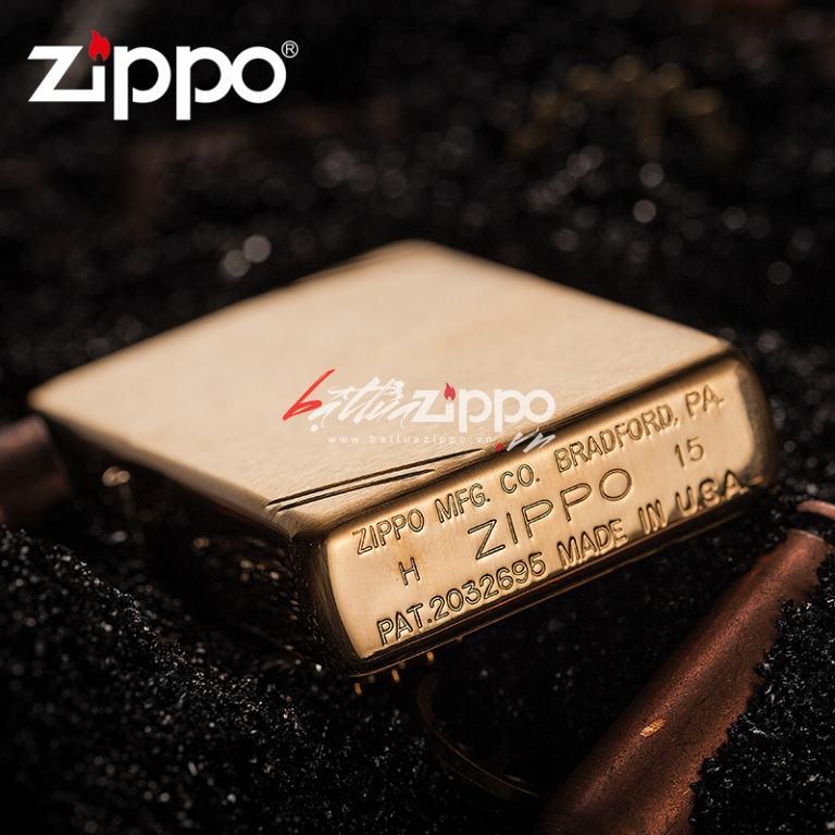 Bật lửa Zippo chính hãng vàng xước cổ điển 1937