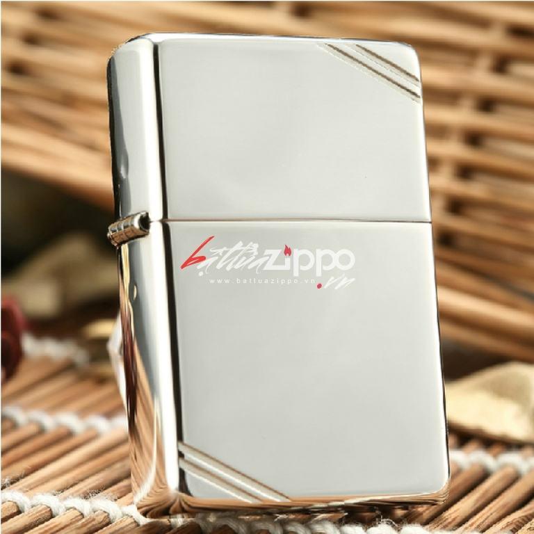 Bật lửa Zippo chính hãng phiên bản 1937 bạc nguyên khối