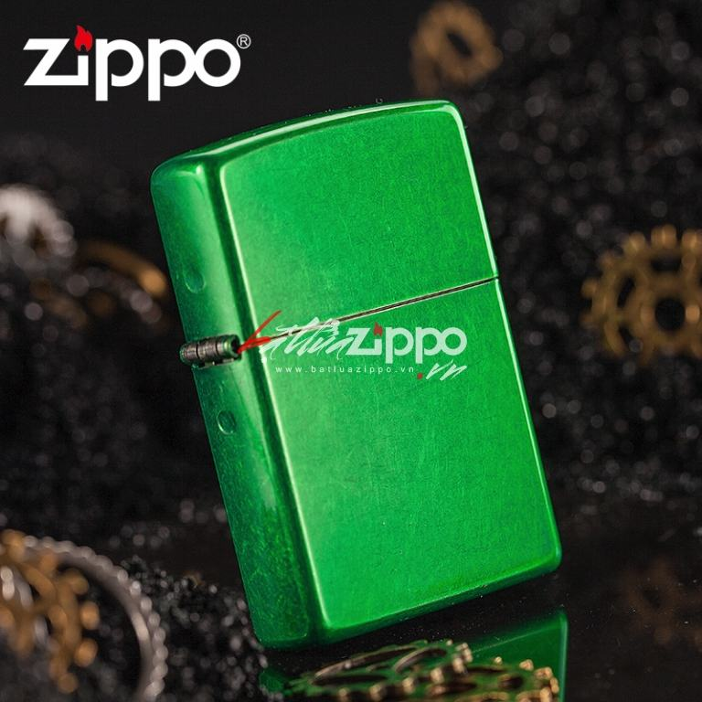 Bật lửa zippo vân xước Lighter Pocket Meadow