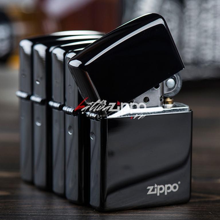 Bật lửa zippo chính hãng đen mun có logo zippo