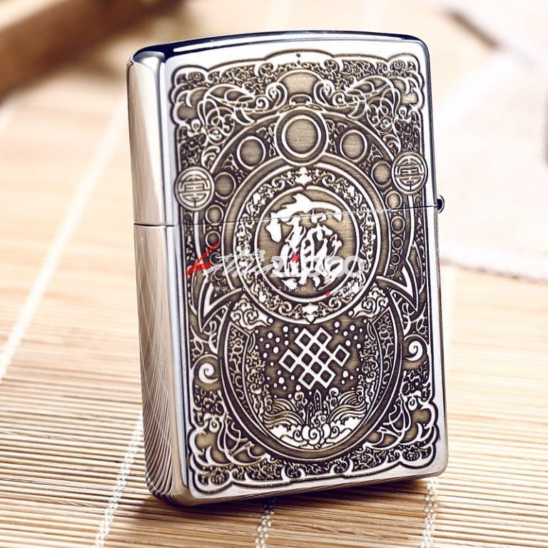 BẬt lửa Zippo chính hãng Nhật khắc hình kỳ lân Ver