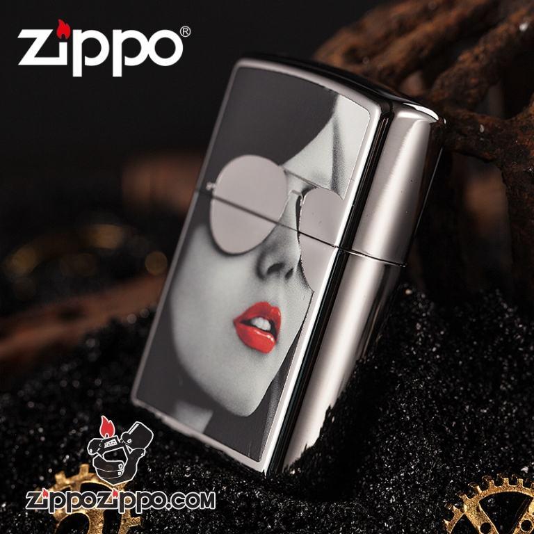 Bật lửa Zippo phiên bản windproof khắc hình cô gái