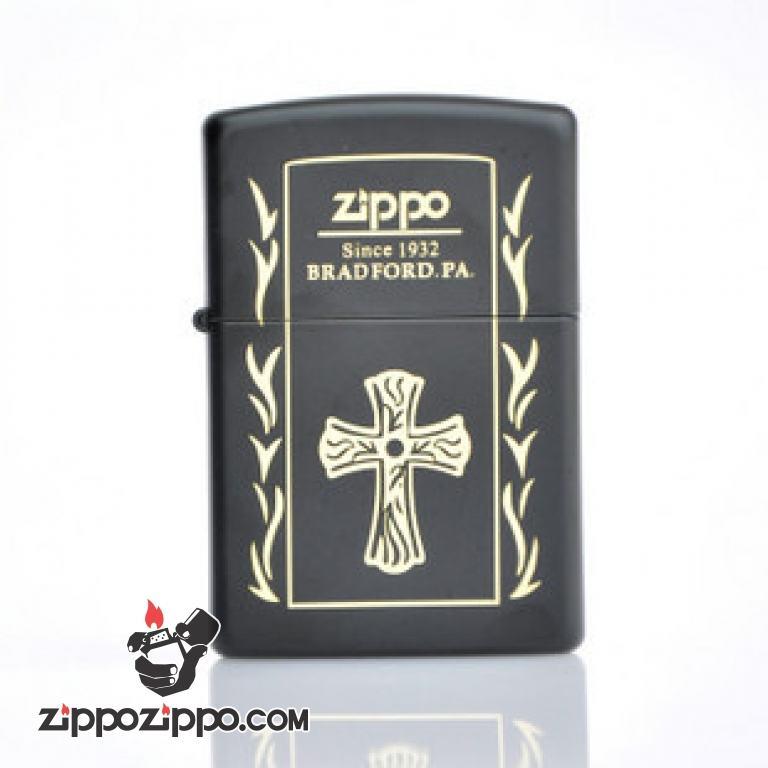 Bật lửa Zippo phiên bản chữ thập sơn mài