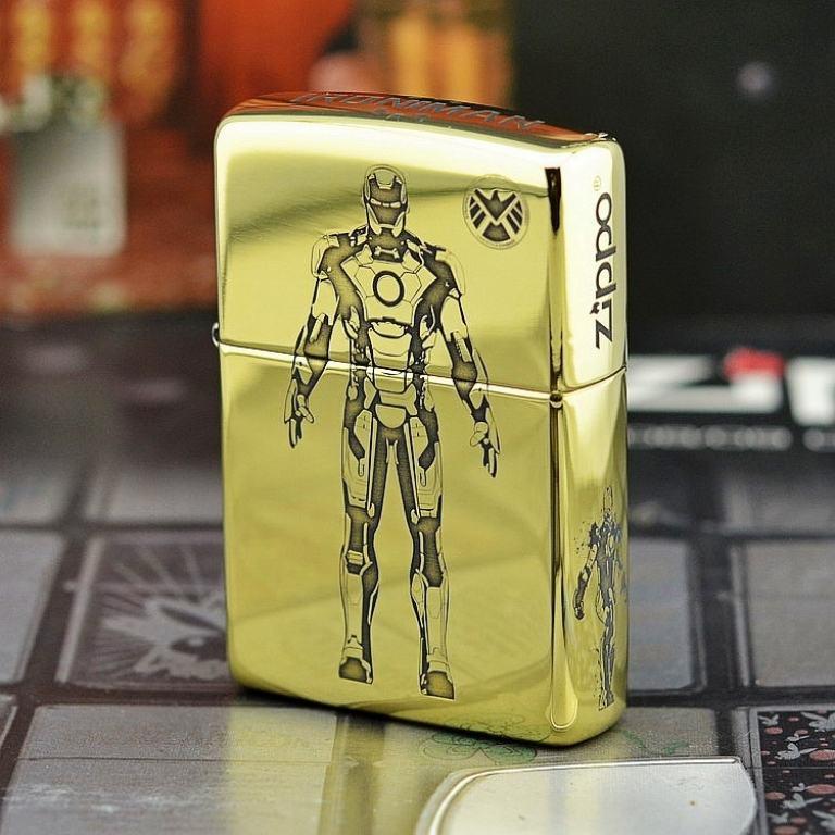 Bật lửa Zippo đồng khắc Iron Man