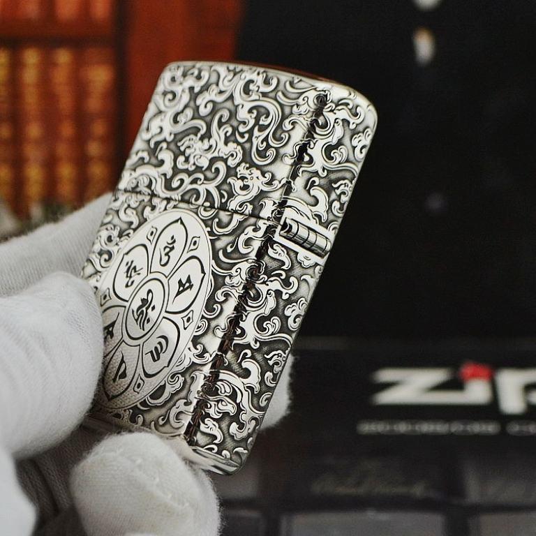 Bật lửa Zippo Bạc nguyên khối khắc Quan Thế Âm Bồ Tát