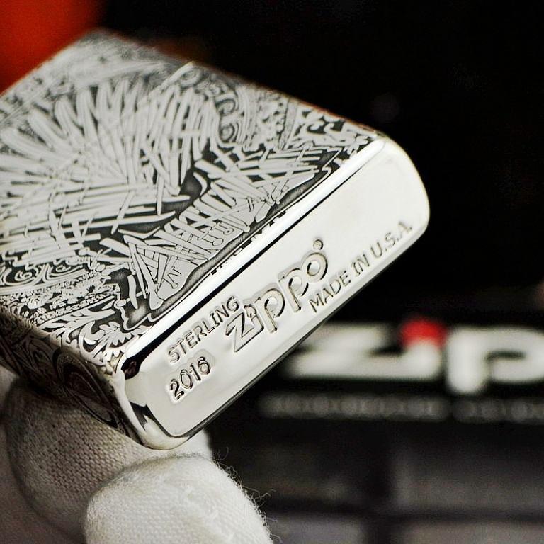 Bật lửa Zippo Bạc nguyên khối Game of Thrones