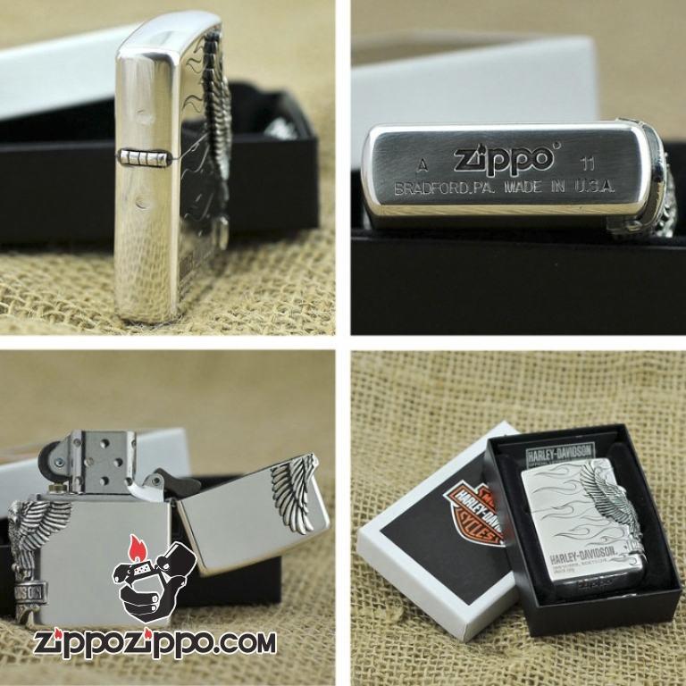 Bật lửa Zippo phiên bản Original Eagle Harley
