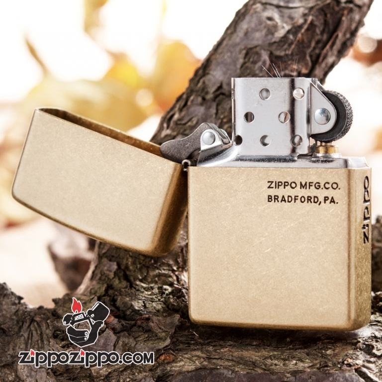 Bật lửa Zippo phiên bản đồng khắc ZIPPO.MFG.CO.
