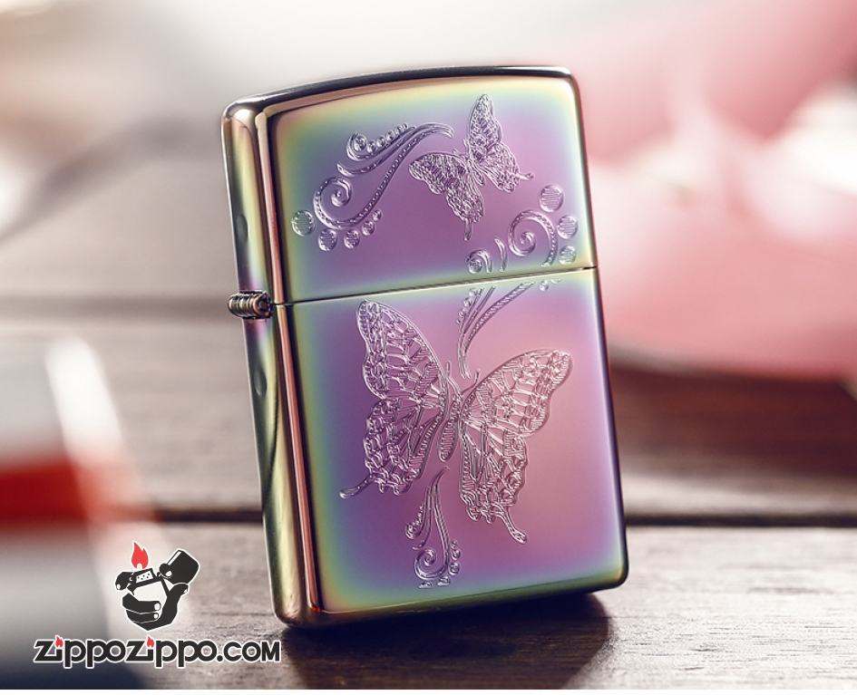 Bật lửa Zippo phiên bản Symphony khắc đôi bướm