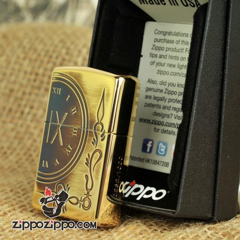 Bật lửa Zippo chuông đồng hồ cổ