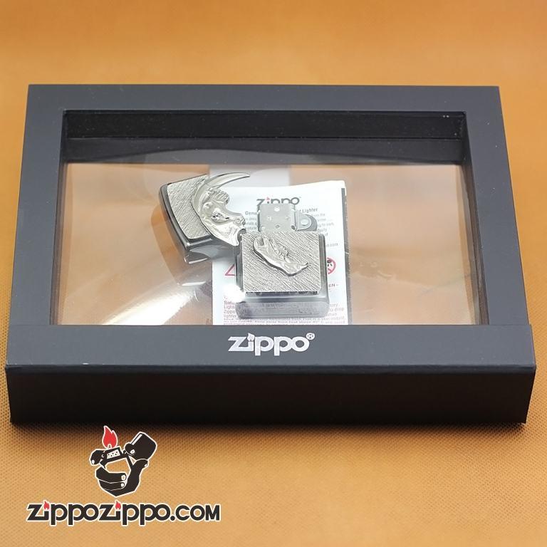 Zippo Chính Hãng Phiên Bản Châu Âu Hình Hộp Sọ Con Cọp Giới Hạn Chỉ 777 Mẫu