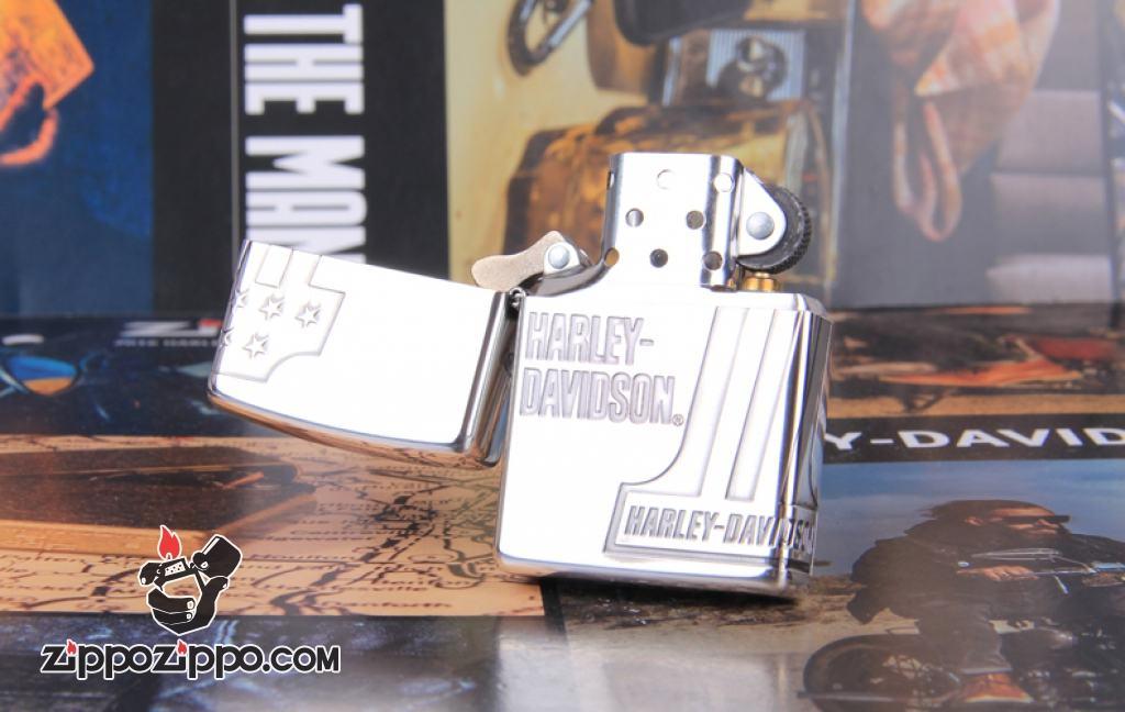 Zippo Chính Hẵng Bạc Khắc Số 1 Harley Davidson