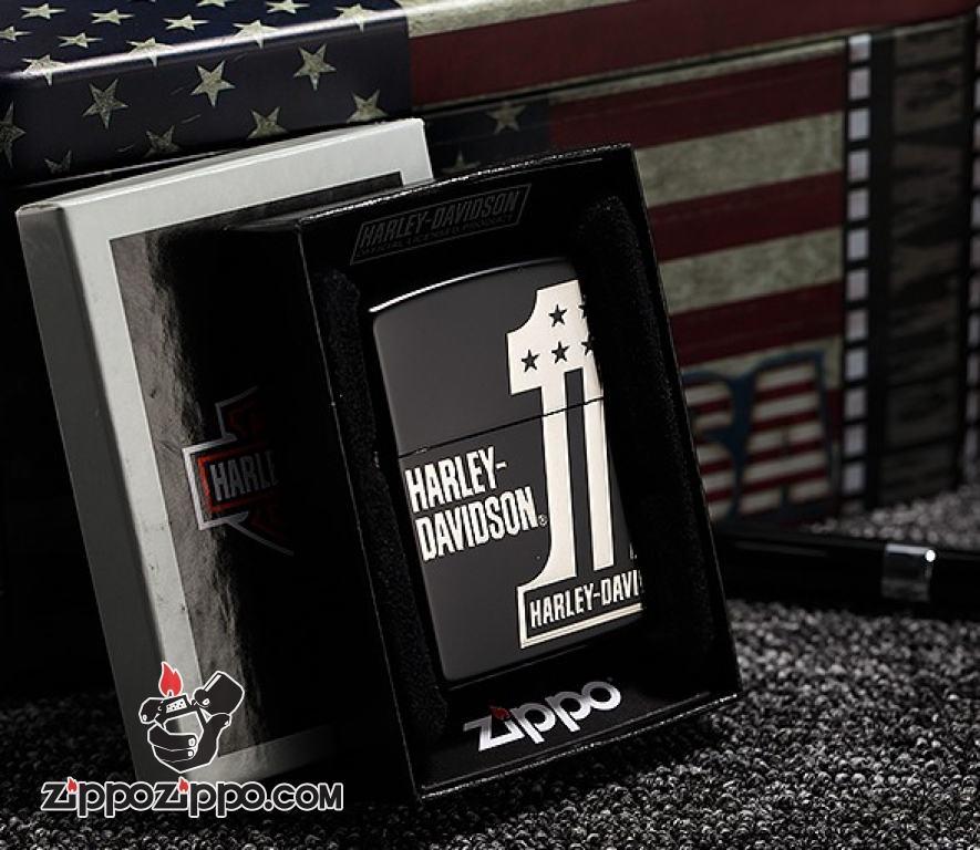 Zippo Chính Hãng Màu Đen Harley Davidson No 1