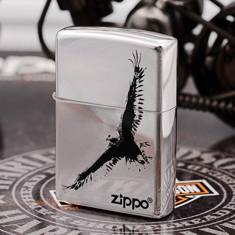 Zippo Chính Hãng Khắc Đại Bàng Sải Cánh