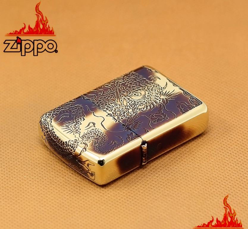 Bật lửa zippo Rồng Cuộn Mây khắc Sâu - Vỏ Dầy Amore