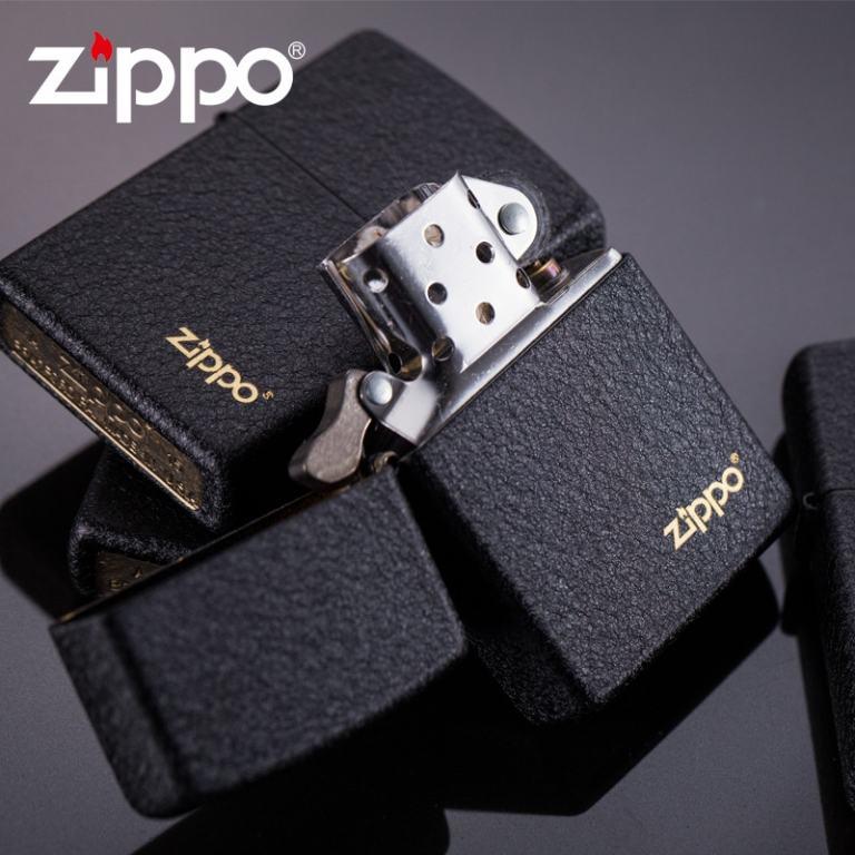Zippo Chính Hãng Đen Sần có Logo ZP