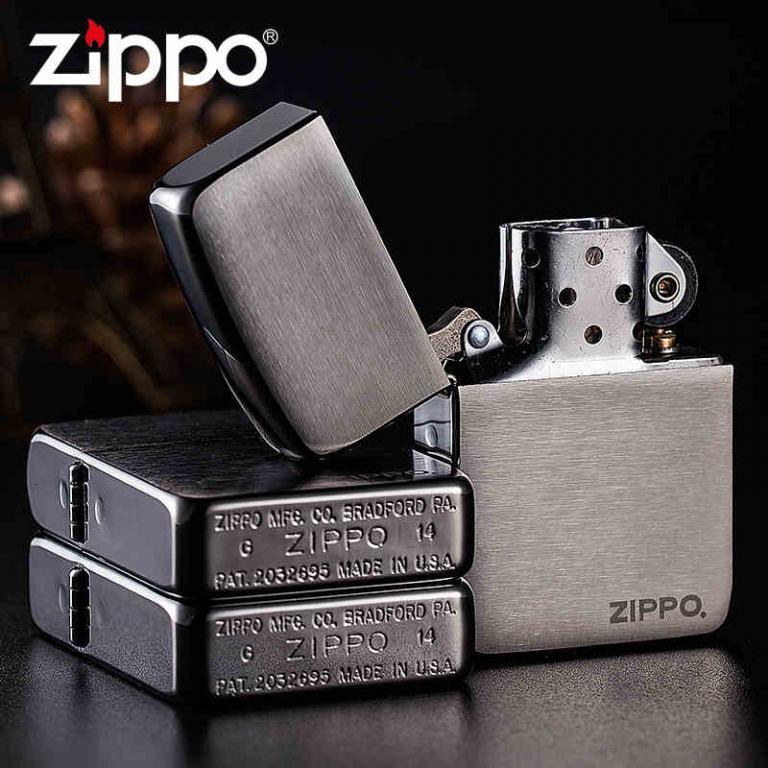 Zippo Chính Hãng Xám tái bản 1941 có logo ZP