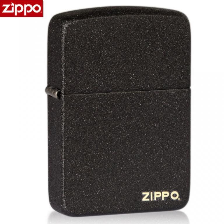 Zippo Chính Hãng Màu Đen Sần Bản 1941 có Logo ZP