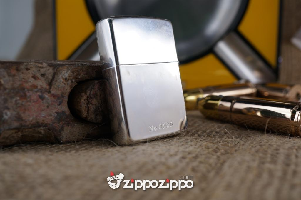 Zippo Bạc Mạ Vàng olympic
