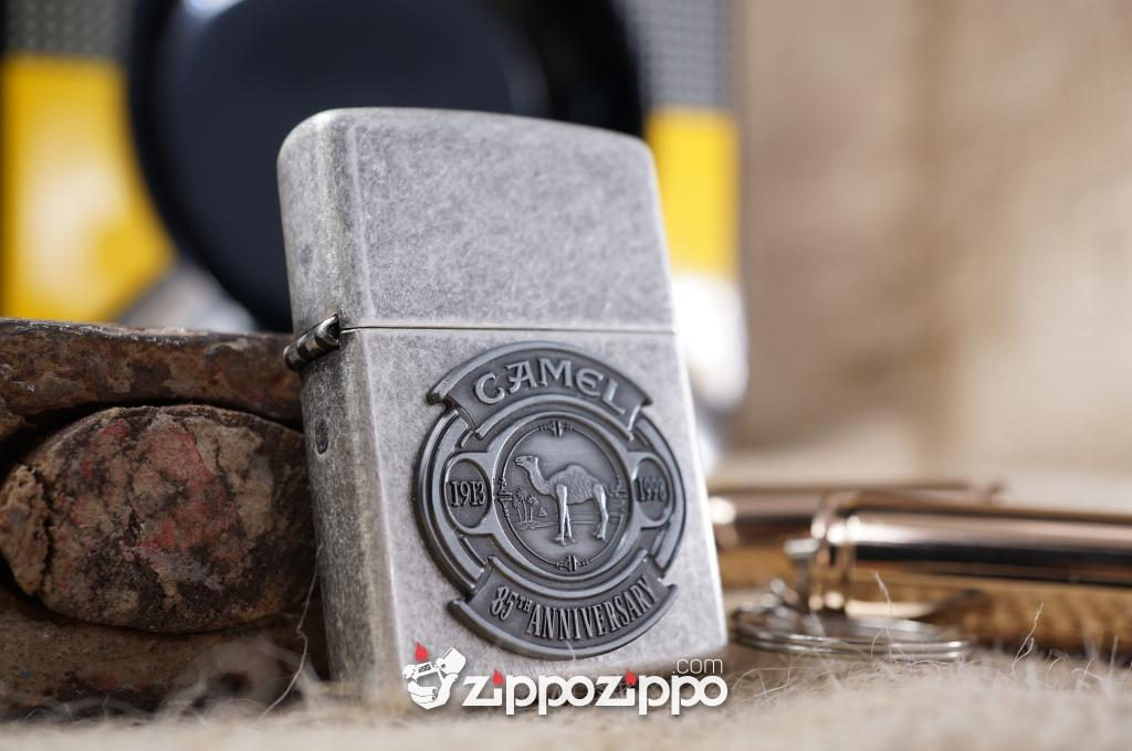 Zippo cổ Camel nổi Bạc cổ 1998