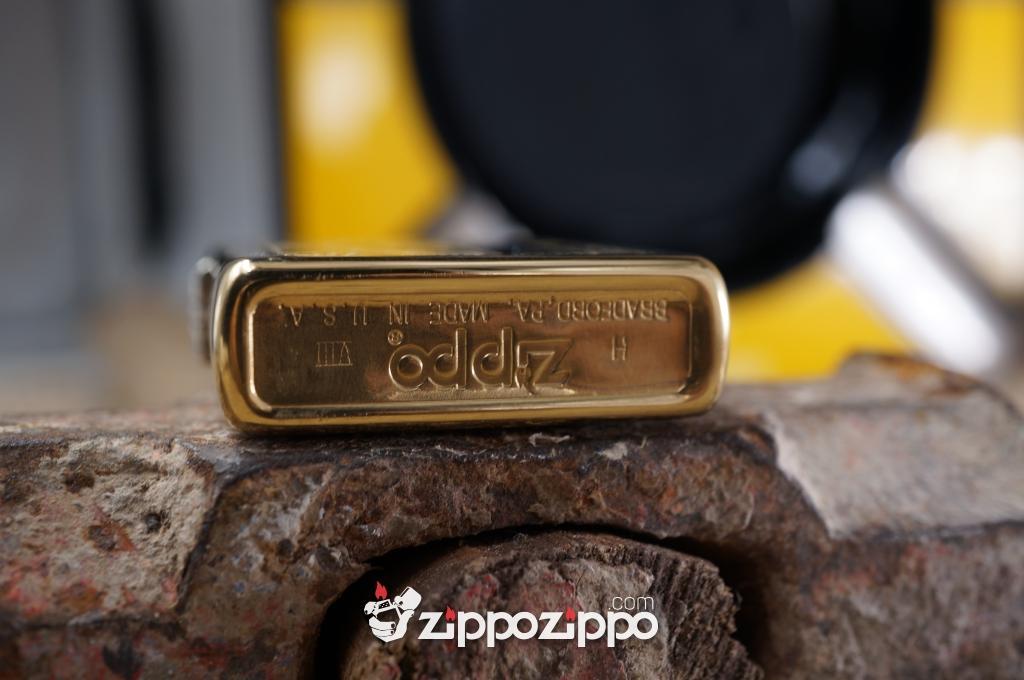 Bật lửa zippo cổ Venetian Brass sản xuất năm 1992