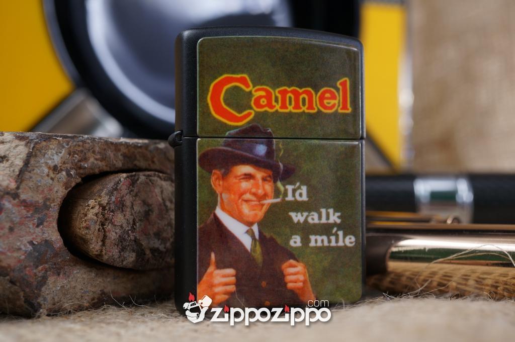 Bật lửa zippo cổ camel khắc nổi