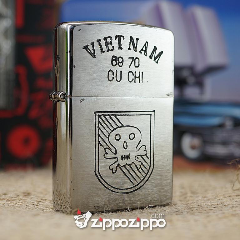 Bật lửa zippo chiến tranh việt nam sản xuất 2017 ( VIETNAM-CU CHI 69-70 )