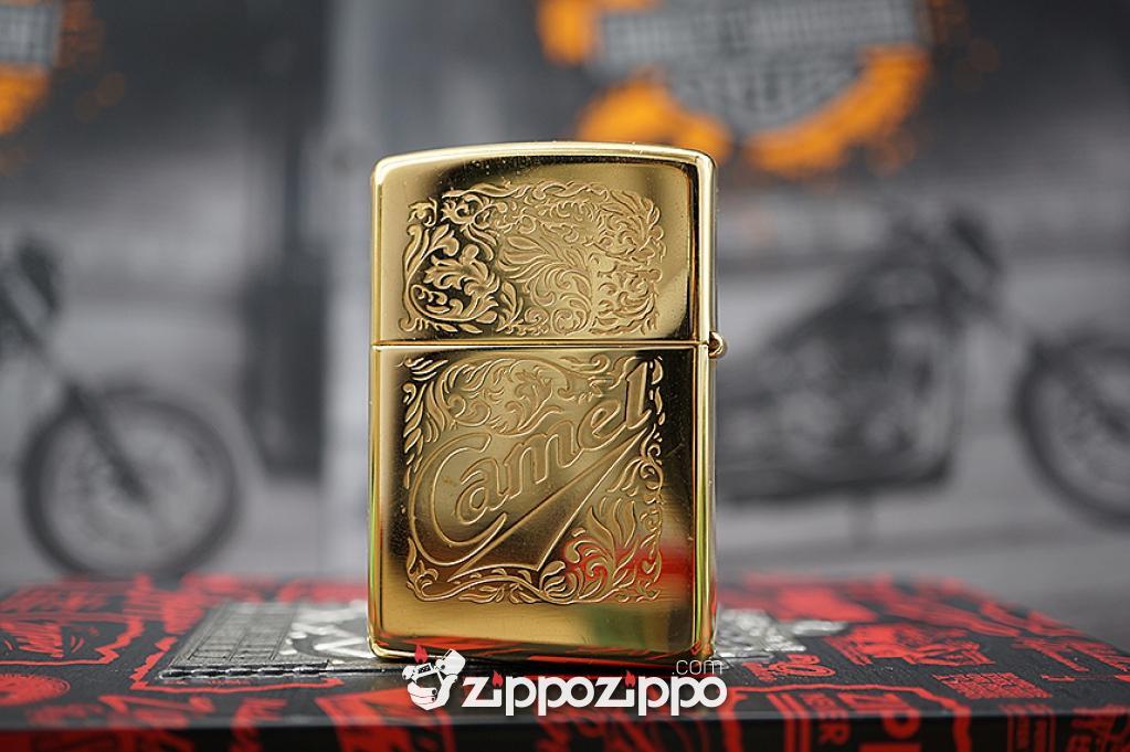 Zippo cổ Camel Mạ Vàng 22k sản xuất năm (1996)