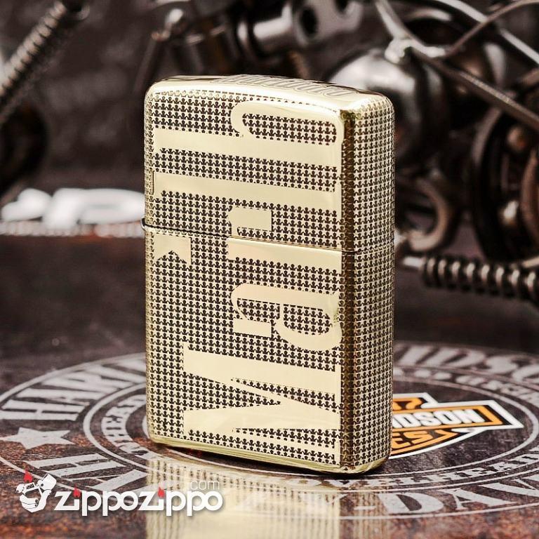 Bật Lửa Zippo Màu Đồng Khắc Logo Marlboro phiên bản 254