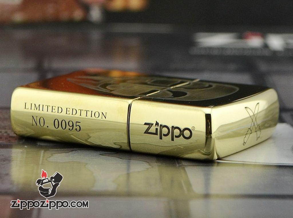 Zippo Chính Hãng Đồng Bóng Khắc Mặt Nạ V Of Vendetta bản ARMOR