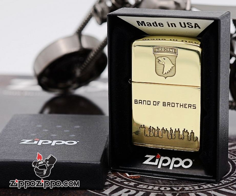 Bật lửa zippo đồng xước Band of Brothers Limited 3000