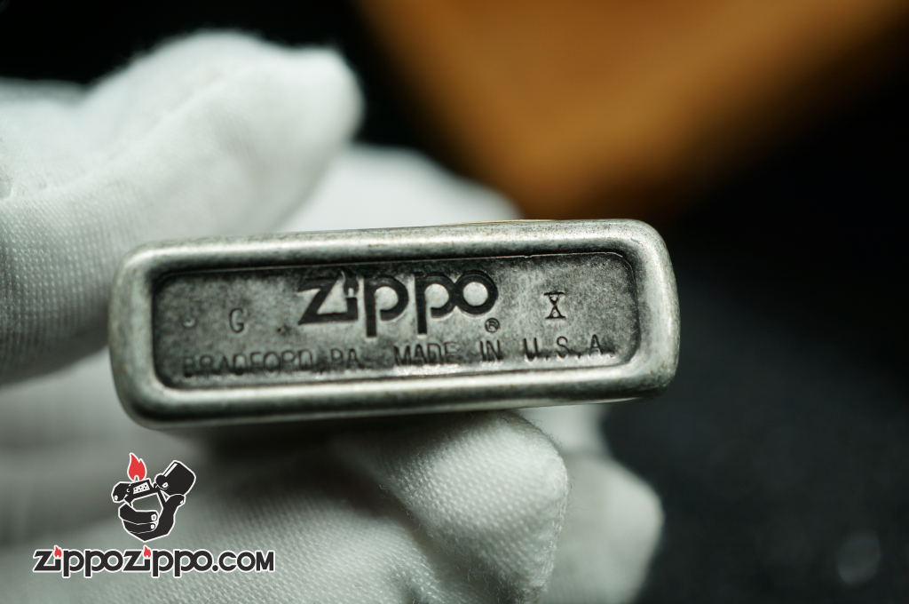 Bật lửa zippo Cổ antique silver plate sản xuất năm X- 1994