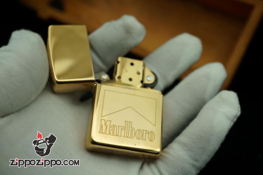 zippo cổ vàng mạ marlboro
