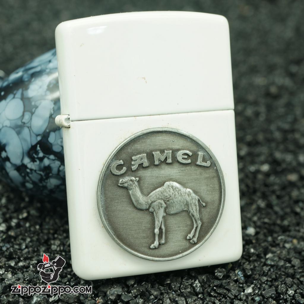 zippo cổ trắng logo camel lạc đà sản xuất năm 1995