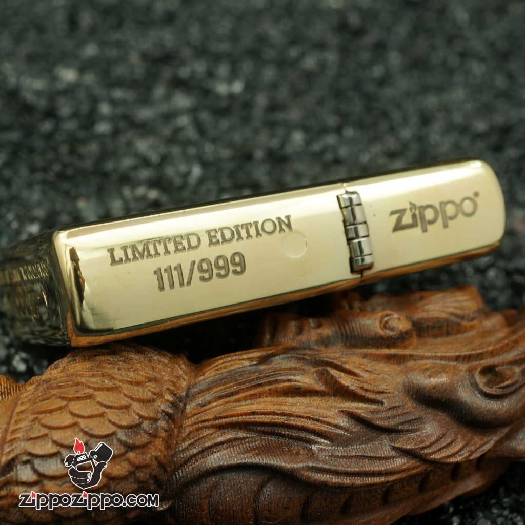 zippo đồng nguyên chất khắc cha con bản giới hạn
