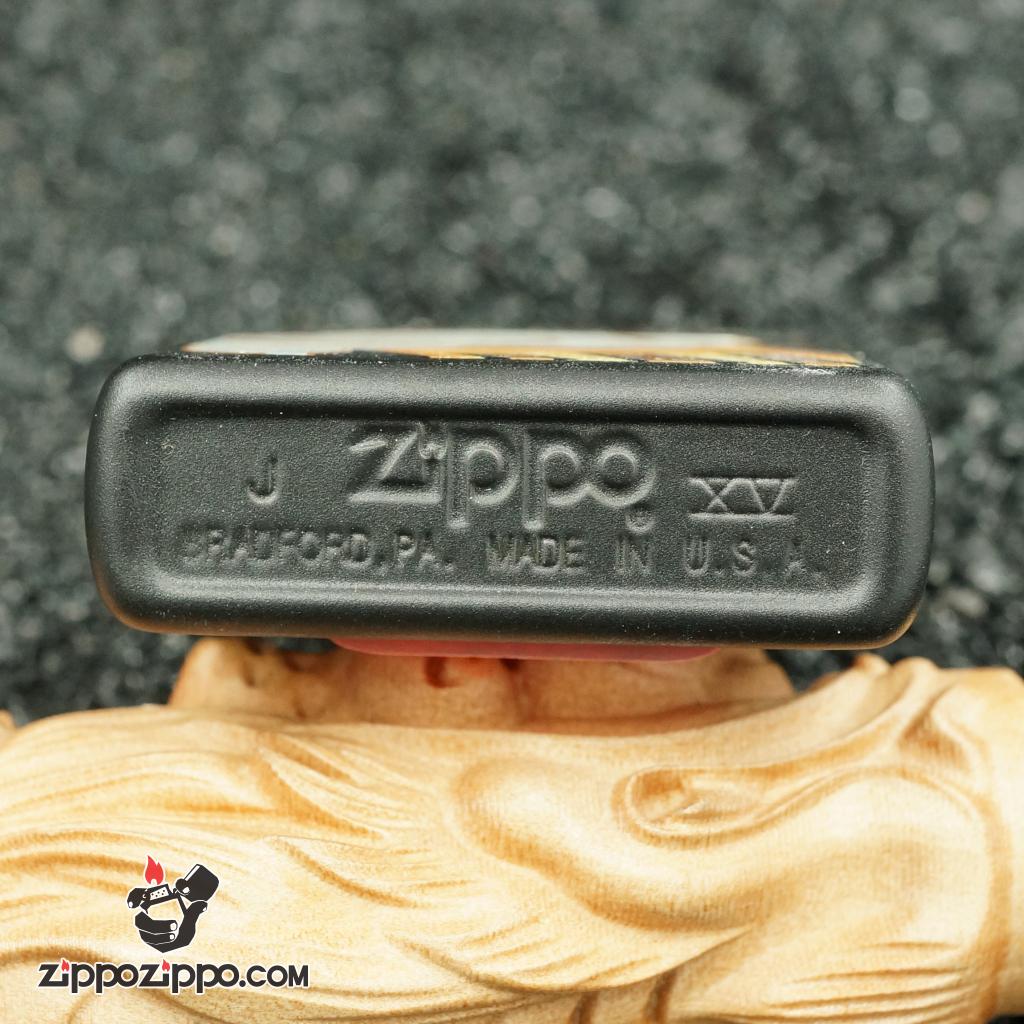 zippo cổ hãng bia miller - sơn đen hình cốc bia miller genuine draft