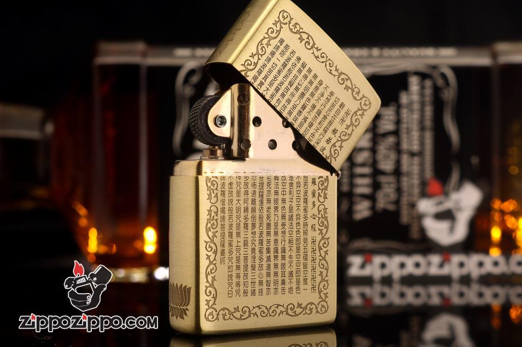 Bật lửa Zippo chất liệu đồng khắc Đức Phật Thích Ca Mâu Ni