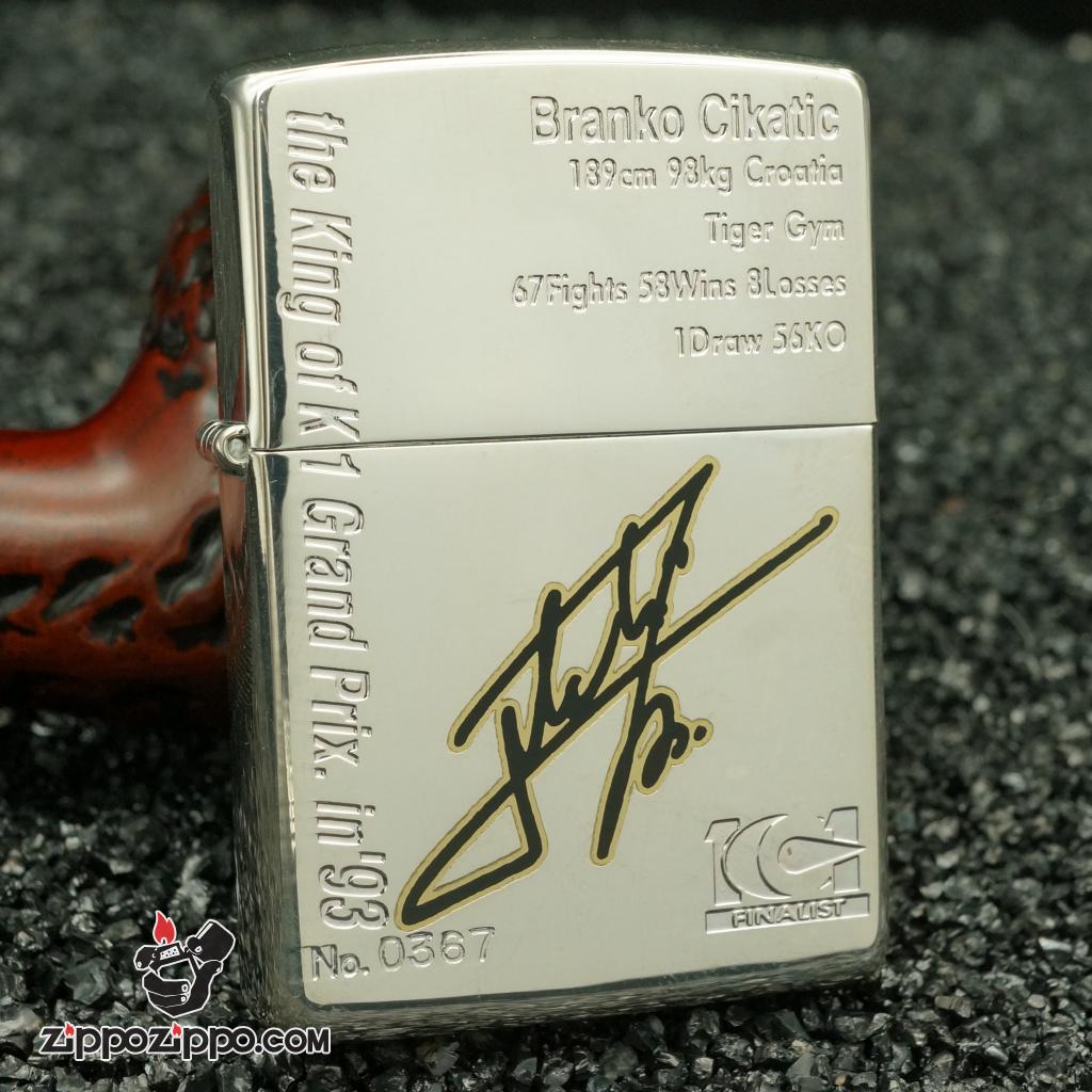 zippo cổ xuất nhật chữ ký mầu bạc sản xuất năm 1997